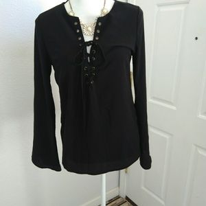 New Look black blouse size small
